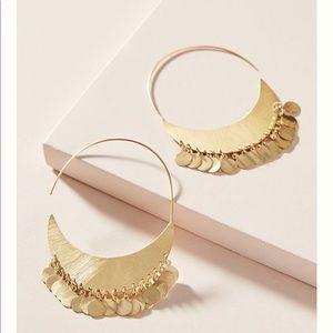 Anthropologie cara coin hoop earring